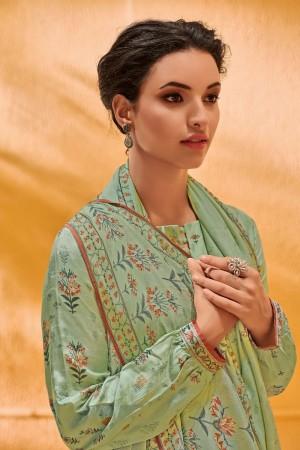 Pista Dola Silk Jacquard Butti Patiyala Suit