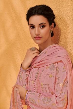 Pink Dola Silk Jacquard Butti Patiyala Suit