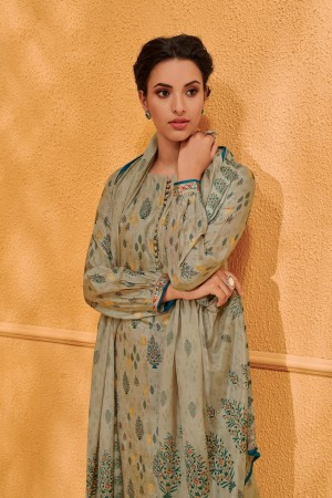 Beige Dola Silk Jacquard Butti Patiyala Suit