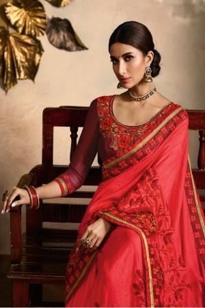 Gajari Dola Silk Saree with Blouse