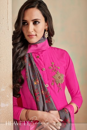 RaniPink Jam Cotton Churidar Suit