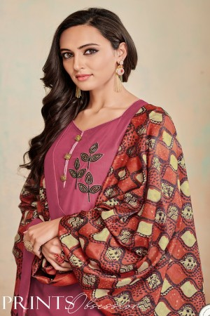 Gajri Jam Cotton Churidar Suit