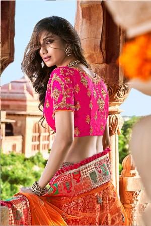 Rani pink Silk Lehenga Choli
