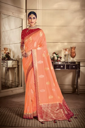Fenta Banarasi Silk Saree with Blouse