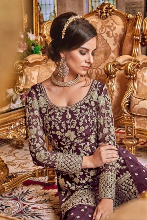 Mulberry Butterfly Net Anarkali Suit