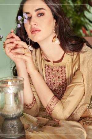 Chiku Cotton Silk Salwar Kameez