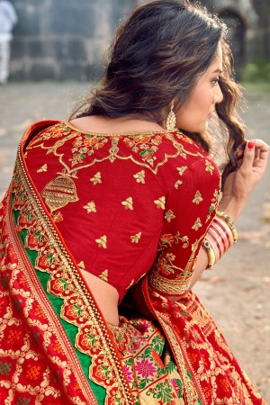 Red Silk Lehenga Choli