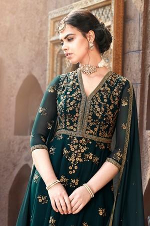 Peacock Faux Georgette Salwar Kameez