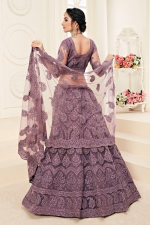 Purple Net Lehenga Choli