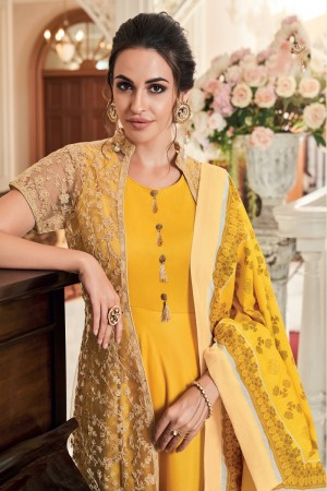 Yellow Muslin Salwar Kameez