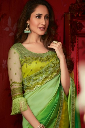 Multicolor Dola Silk Saree with Blouse