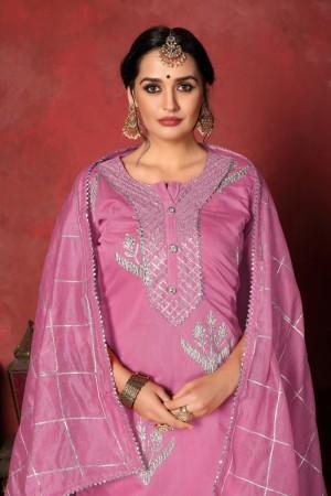 Pink Modal Cotton Salwar Kameez