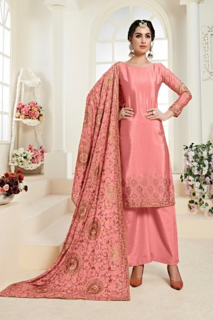 Pink Chinon Salwar Kameez