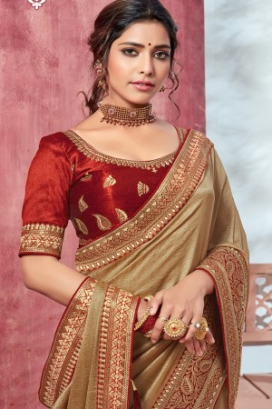 Chiku Chinnon Georgette Saree with Blouse