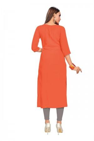 Orange Rayon Kurti