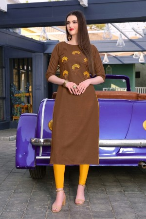 Coffee Rubby Silk Kurti
