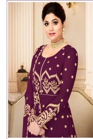 Purple Georgette Salwar Kameez