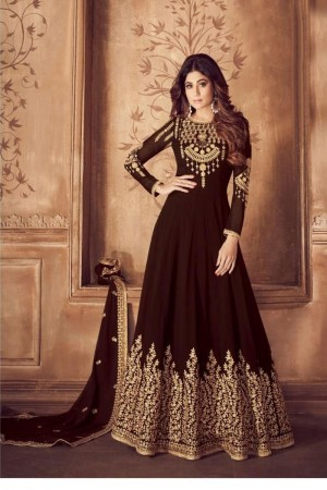 Brown Georgette Salwar Kameez