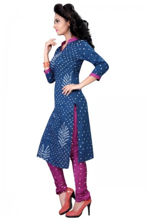 Glamorous Multicolor Satin Cotton Bandhni Dress Material