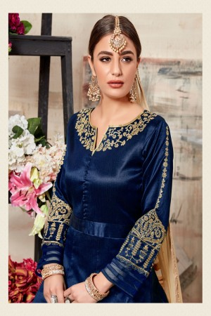 Blue Silk (Mulberry) Salwar Kameez
