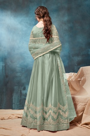 Pista Net Anarkali Suit