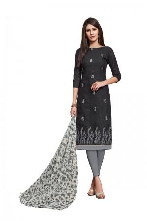 Black Jacquard dress material