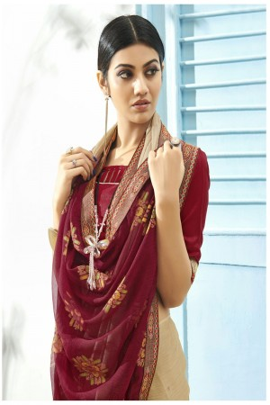 Chiku Pure Chiffon Saree with Blouse
