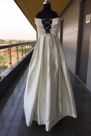 White Satin Gown