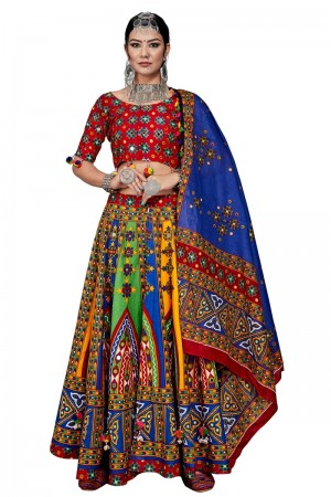 Multicolor Cotton Lehenga Choli
