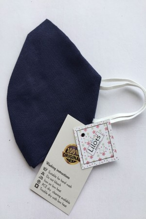 Navy Blue Cotton Mask