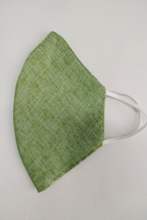 Parrot Green Cotton Mask
