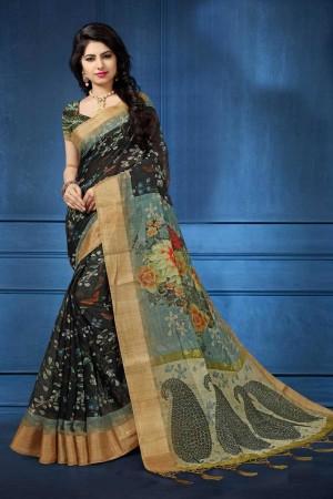 multi Munnar Silk Saree with Blouse