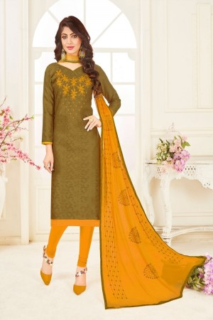Mahendi Bombay Jacquard Dress Material