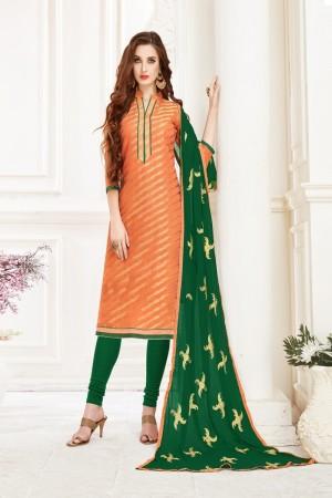 Fenta Banarasi Jacquard Dress Material