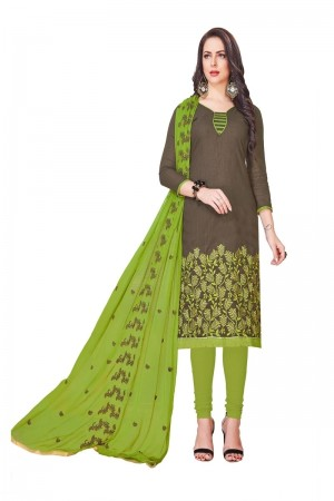 Mahendi South Cotton Slub Dress Material