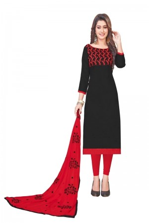 Black Glass (satin)Cotton Dress Material