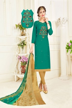Rama Color Cotton South Slub Dress Material