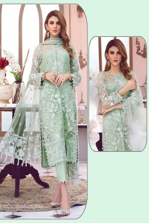 Light Green Net Salwar Kameez
