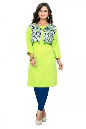 Dashing Liril Slab Cotton & Reyon Printed Kurti