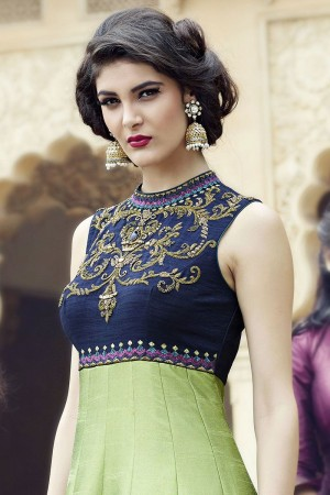 Multicolor Banglori And Bhagalpuri Handworked Suit