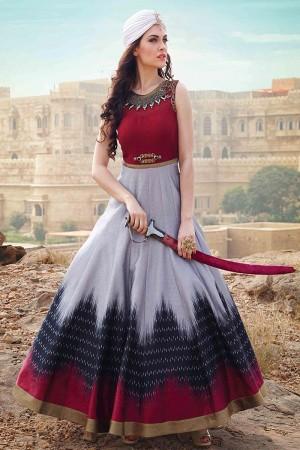 Multicolor Banglori and Bhagalpuri Handwork Suit