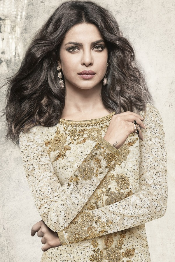 d89b332a2d Priyanka Chopra OffWhite Brasso Heavy Embroidery Top with Embroidery Bottom Salwar  Kameez